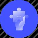solution, puzzle, explain, resolve, assist, solve, answer icon