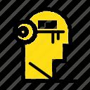 brain, key, lock, mind, unlock icon