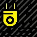 cable, marketing, plug icon