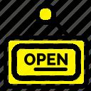 board, marketing, open, sign