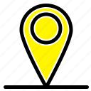 global, location, pin, world icon