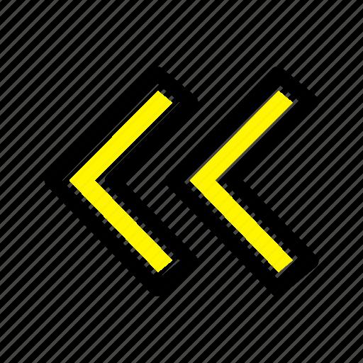 arrow, arrows, back icon
