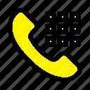 call, dial, keys, phone