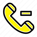 call, contact, delete icon