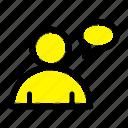 basic, chatting, user icon