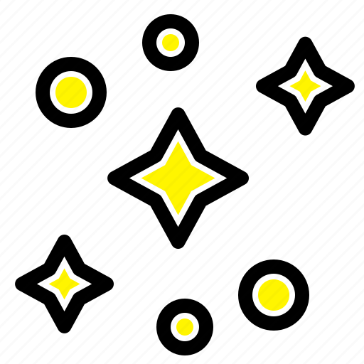 galaxy, space, stars icon