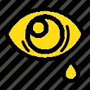 droop, eye, sad icon