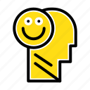 happiness, happy, human, life, optimism icon