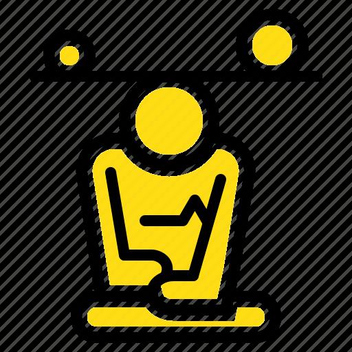 Balance, concentration, meditation, mind, mindfulness icon