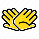 charity, hands, help, helping, relations icon