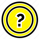 about, ask, information, question, support icon