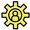 customer, employee, service, support icon