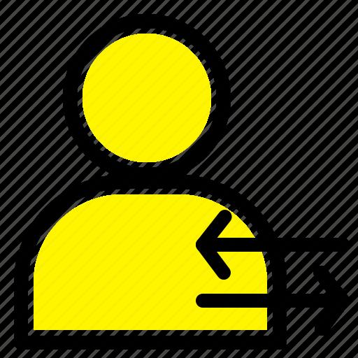 arrow, left, man, right icon