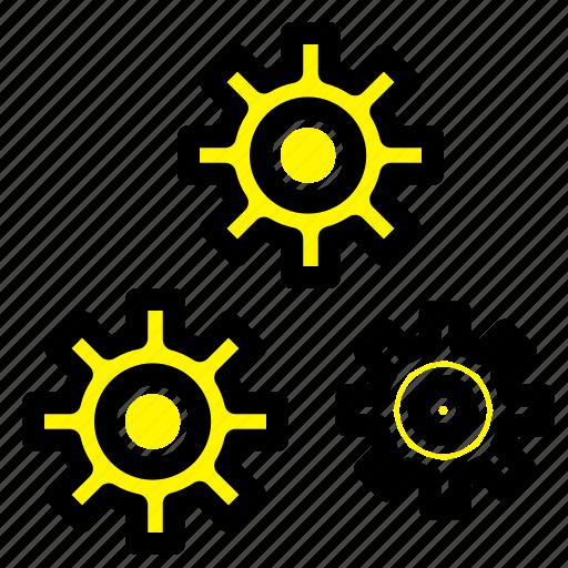 configuration, gears, preferences, service icon