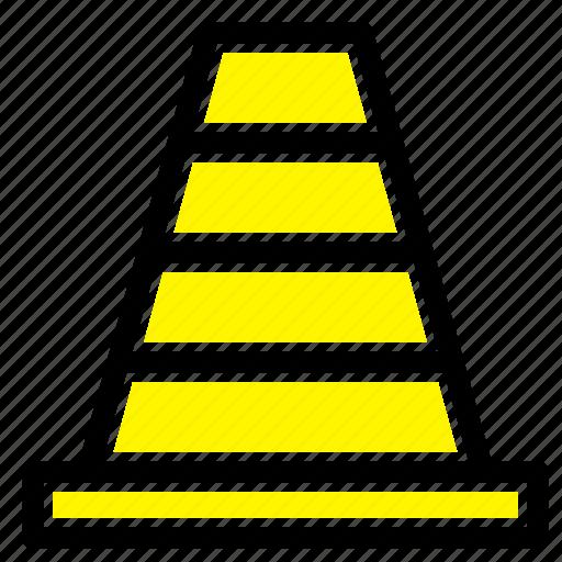 cone, construction, tool icon