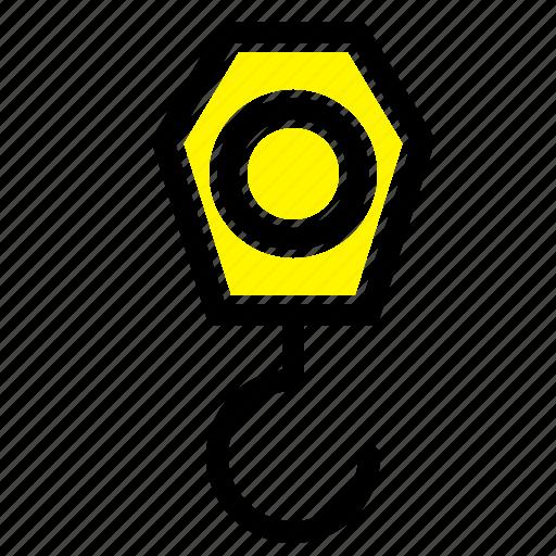Construction, crane, hook icon - Download on Iconfinder