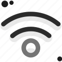 cable, computers, connectivity, network connection, range, red, wireless icon
