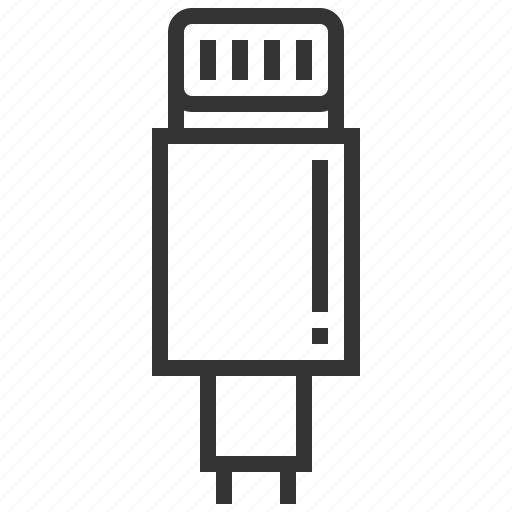 cable, connector, data, electric, plug, smartphone, wire icon
