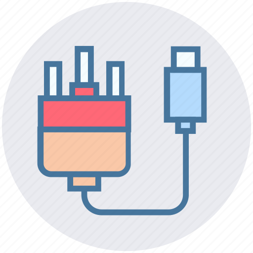 cable, charger, connector, internet, web icon