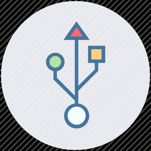 connector, sign, usb, usb sign, usb symbol icon