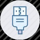 cable, connector, cord, plug, usb icon