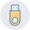 connector, cord, device, flash, usb icon