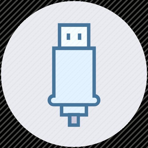 connector, cord, device, flash, usb icon