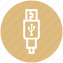 cable, connector, cord, plug, usb icon