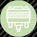 cable, connector, cord, dvi, plug icon