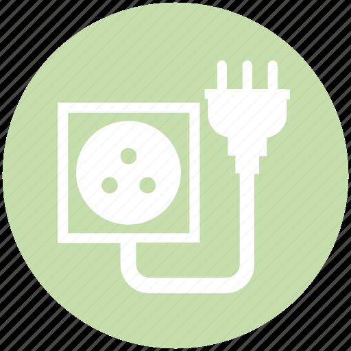 cable, connector, eu, plug, socket icon