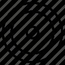 centre, circle, dartboard, lope, pointer, round icon
