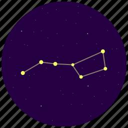 big dipper, constellation, sky, stars, ursa major icon