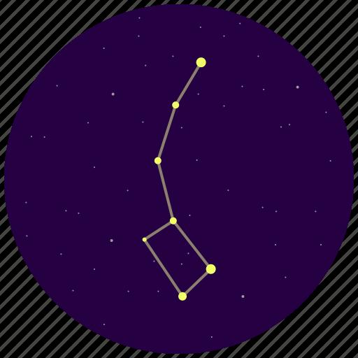 constellation, little dipper, sky, stars, ursa minor icon