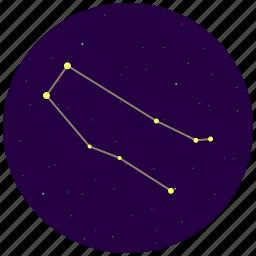 constellation, gemini, sky, stars icon