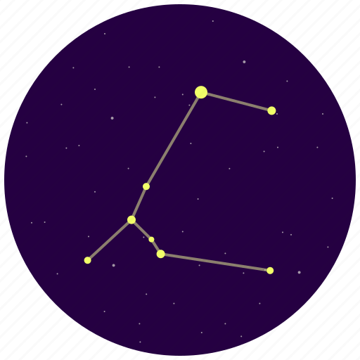 big dog, canis major, constellation, sky, stars icon