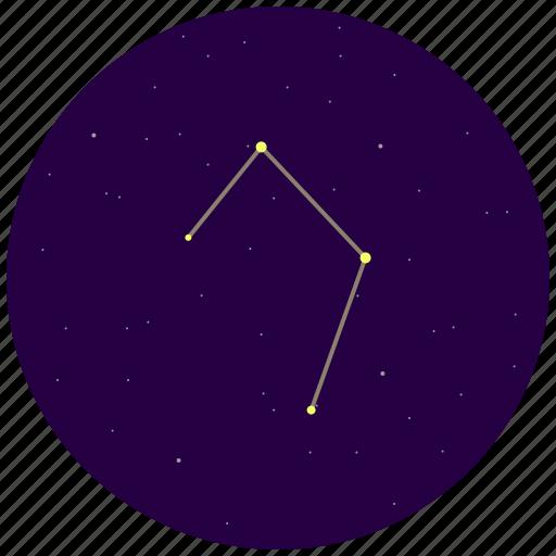constellation, libra, sky, stars icon