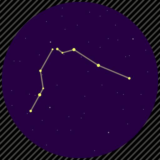 aquarius, constellation, sky, stars icon
