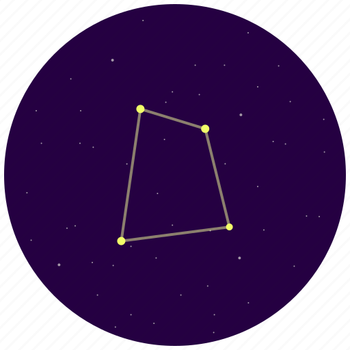 constellation, corvus, raven, sky, stars icon