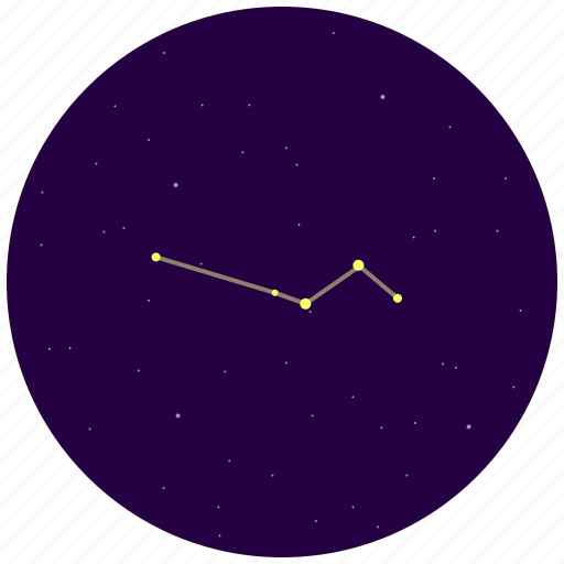 columba, constellation, dove, sky, stars icon