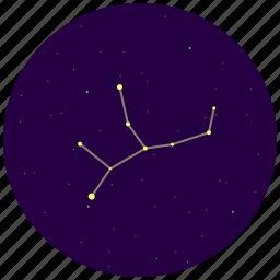 constellation, sky, stars, virgo icon