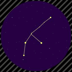 constellation, sky, stars icon