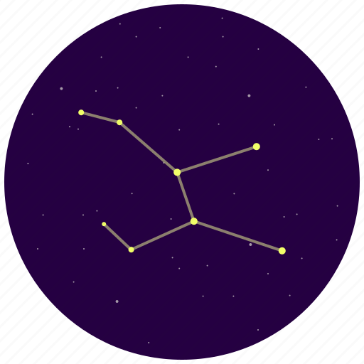 constellation, hare, lepus, sky, stars icon