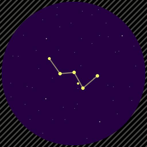 cassiopeia, constellation, sky, stars icon