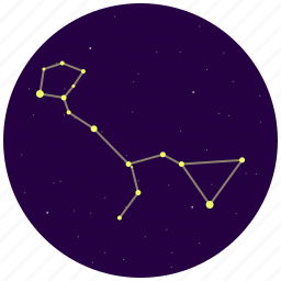 cetus, constellation, sky, stars, whale icon