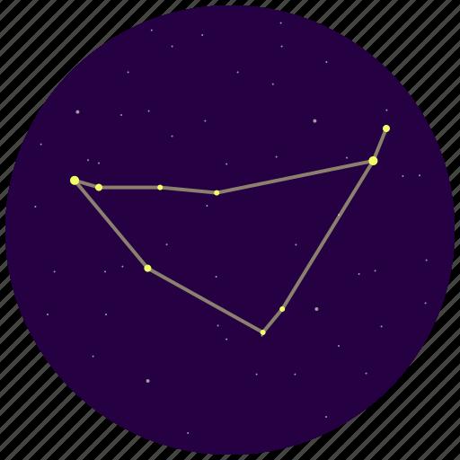 capricorn, capricornus, constellation, sky, stars icon