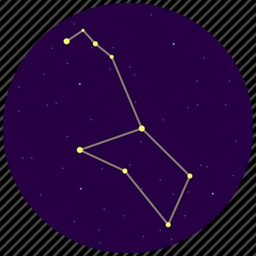 constellation, poop, puppis, sky, stars icon
