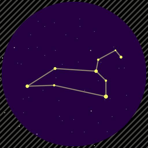 constellation, leo, sky, stars icon