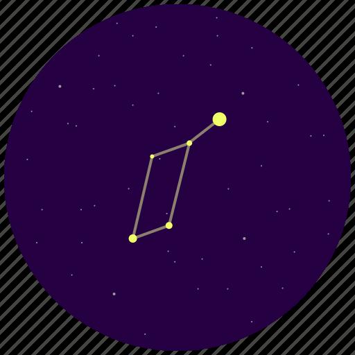 constellation, lyra, sky, stars icon