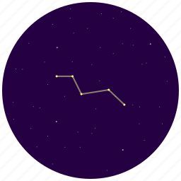 constellation, fox, sky, stars, vulpecula icon