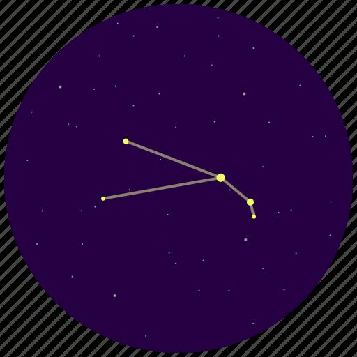 aries, constellation, sky, stars icon